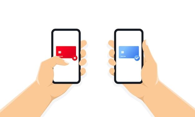 Mãos segurando um telefone com o formulário de pagamento na tela