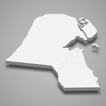 Mapa 3d com bordas