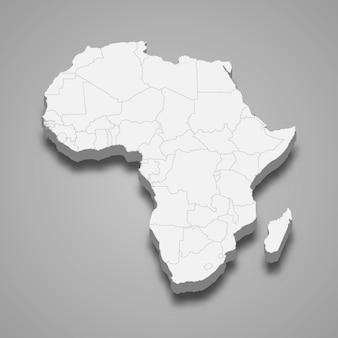 Mapa 3d da áfrica