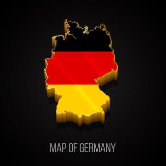 Mapa 3d da alemanha