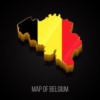 Mapa 3d da bélgica
