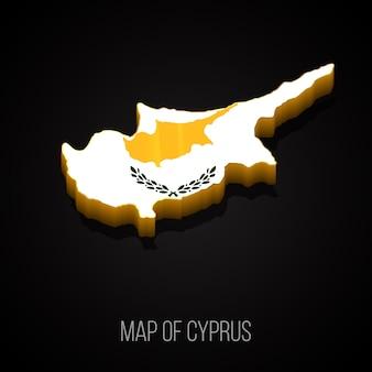 Mapa 3d da bulgária chipre