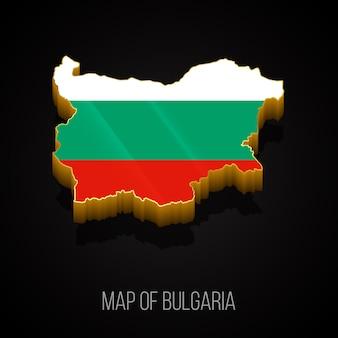 Mapa 3d da bulgária