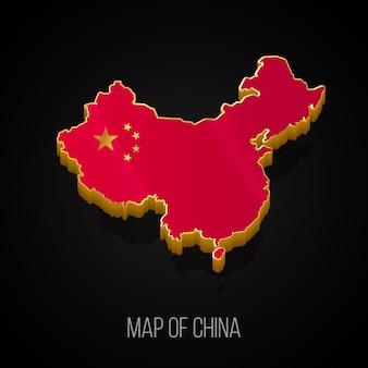 Mapa 3d da china