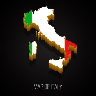 Mapa 3d da itália