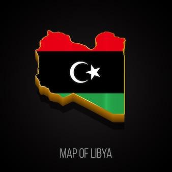 Mapa 3d da líbia