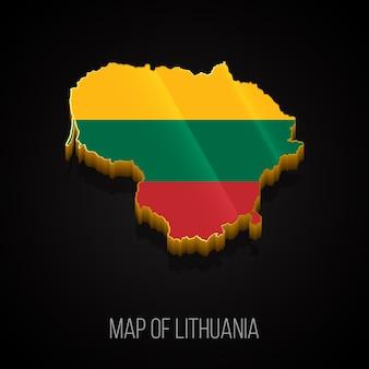 Mapa 3d da lituânia