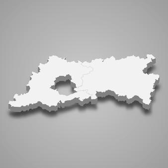 Mapa 3d da província de brabante flamengo da bélgica