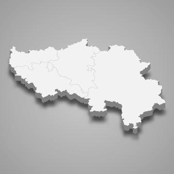 Mapa 3d da província de liege na bélgica