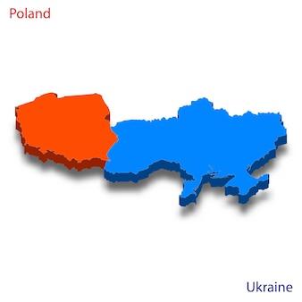 Mapa 3d das relações entre a polônia e a ucrânia