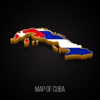 Mapa 3d de cuba