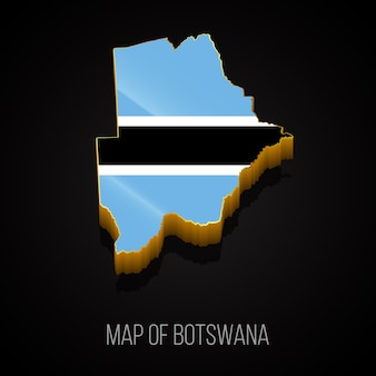 Mapa 3d do botsuana