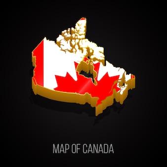 Mapa 3d do canadá