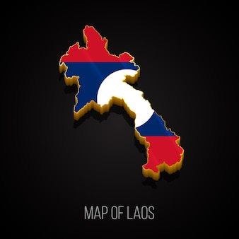 Mapa 3d do laos