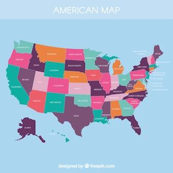 Mapa americano concluído