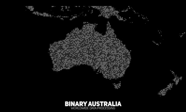 Mapa binário abstrato da austrália.