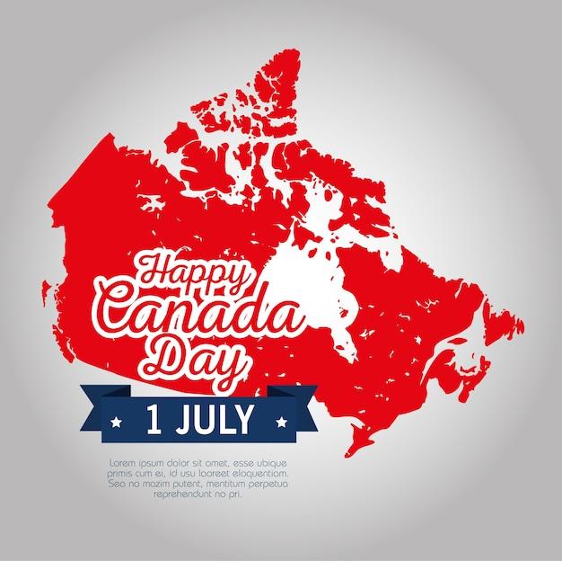 Mapa canadense silhueta ícone vector ilustração design