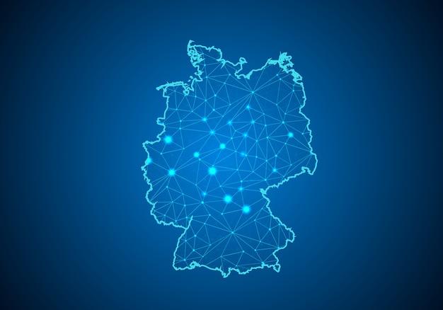 Mapa da alemanha.