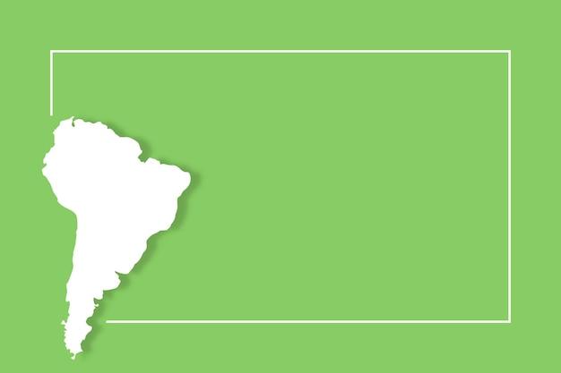 Mapa da américa do sul com modelo de fundo de vetor