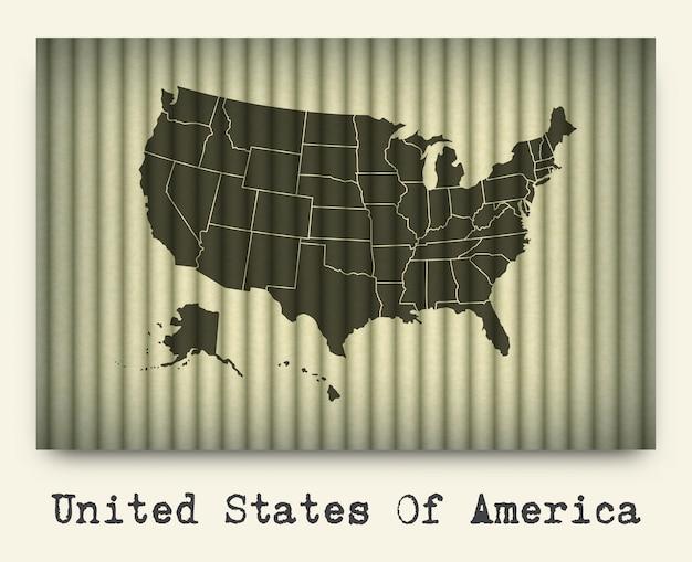 Mapa da américa em papelão