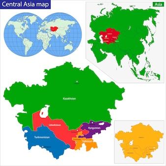 Mapa da ásia central