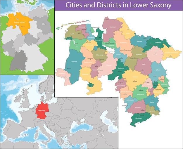 Mapa da baixa saxônia