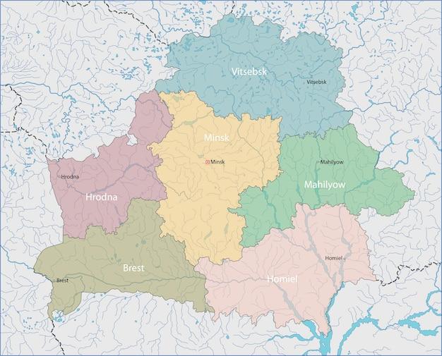 Mapa da bielorrússia Vetor Premium