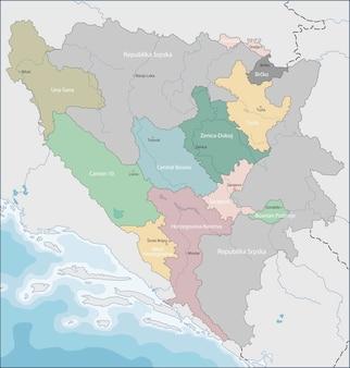 Mapa da bósnia e herzegovina