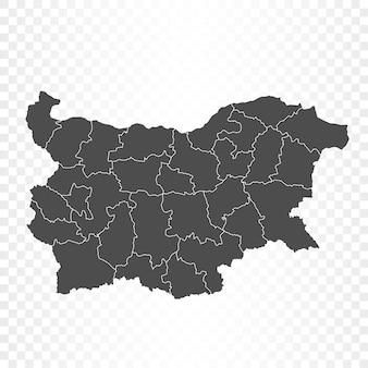 Mapa da bulgária isolado em transparente