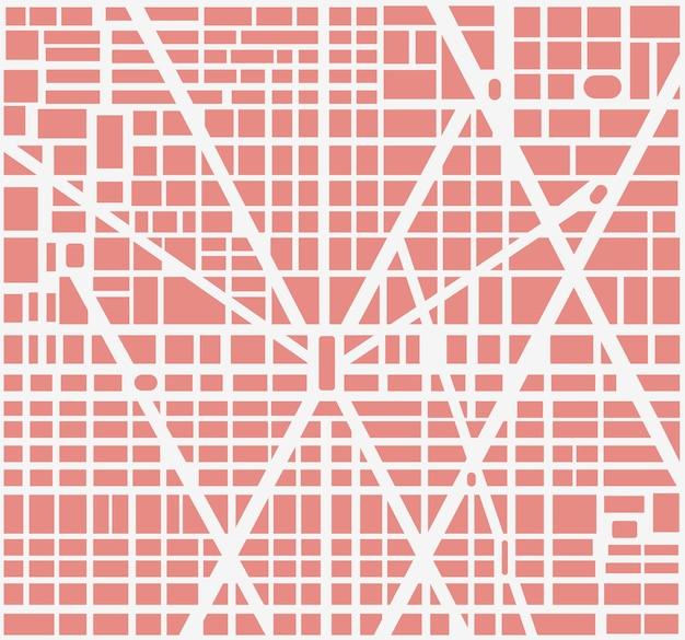 Mapa da cidade da área de bairros urbanos, casas e estradas. pode ser usado como plano de fundo urbano