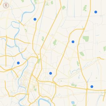 Mapa da cidade para qualquer tipo de informação gráfica digital e mapa gps de publicação impressa