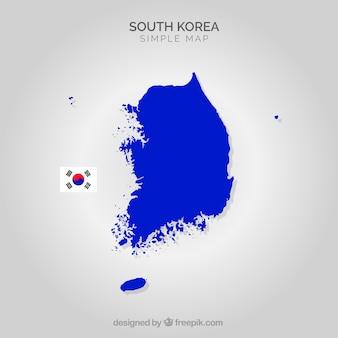 Mapa da coreia do sul