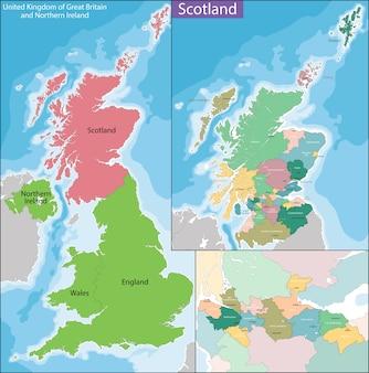 Mapa da escócia