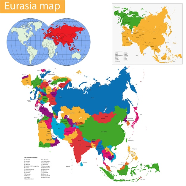 Mapa da eurásia