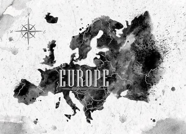 Mapa da europa da tinta