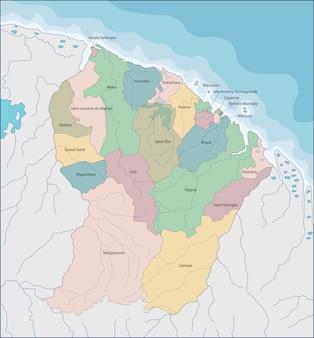 Mapa da guiana francesa