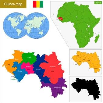 Mapa da guiné