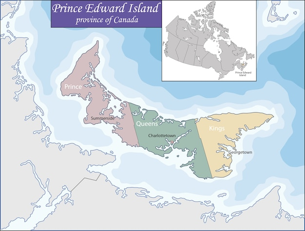 Mapa da ilha do príncipe eduardo