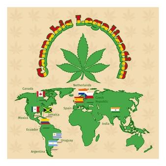 Mapa da legalização da maconha