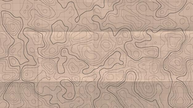 Mapa da linha topográfica.