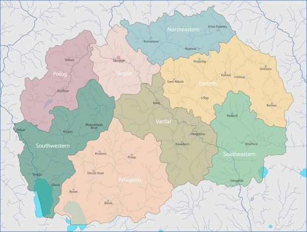 Mapa da macedônia