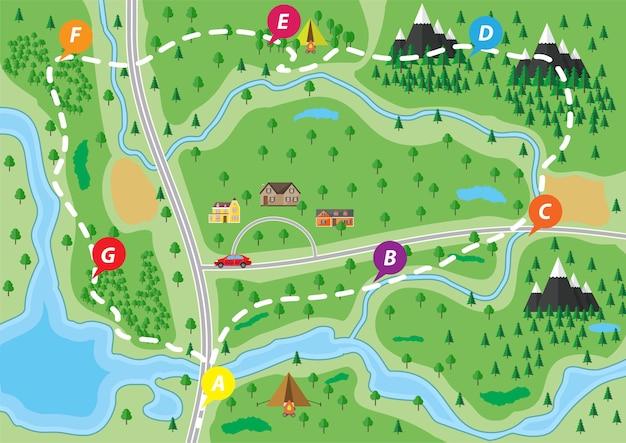 Mapa da natureza suburbana