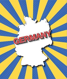 Mapa da pop art da alemanha