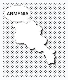 Mapa da pop art da armênia