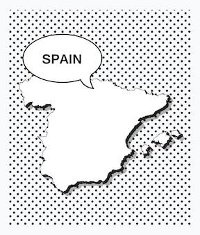 Mapa da pop art da espanha