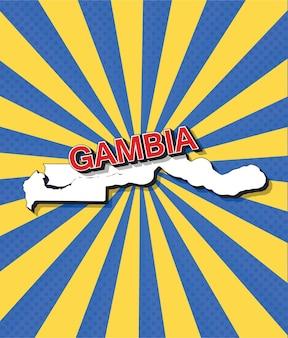 Mapa da pop art da gâmbia