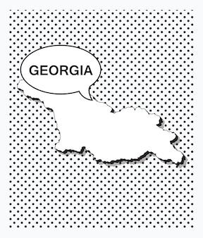 Mapa da pop art da geórgia