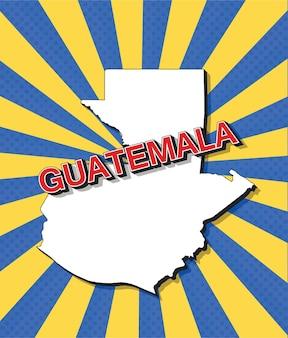 Mapa da pop art da guatemala
