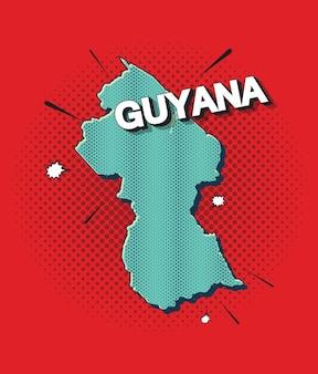Mapa da pop art da guiana