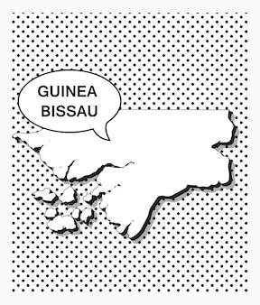 Mapa da pop art da guiné-bissau